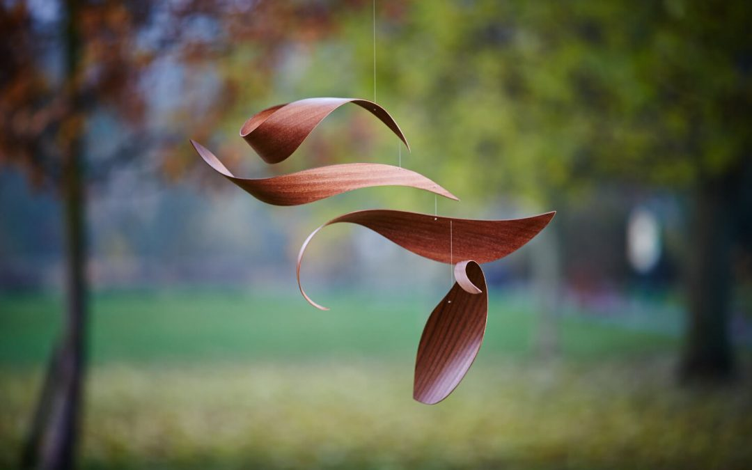 Four mobiles created with the art group, Cramlington Learning Village
